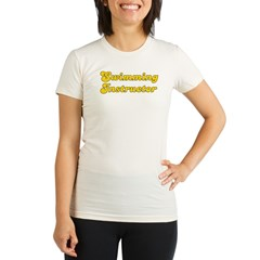 Retro Swimming In.. (Gold) Organic Women's Fitted T-Shirt