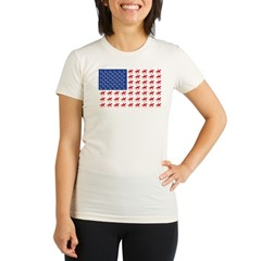 Original Patriotic Horse Flag Organic Women's Fitted T-Shirt