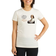 Franklin on Beer Organic Women's Fitted T-Shirt