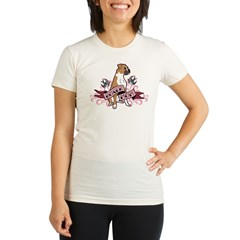 Boxer Mom Tattoo Organic Women's Fitted T-Shirt