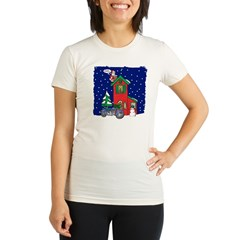 A Motorcycle For Christmas Organic Women's Fitted T-Shirt