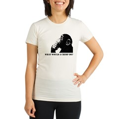 What would a chimp do? Organic Women's Fitted T-Shirt
