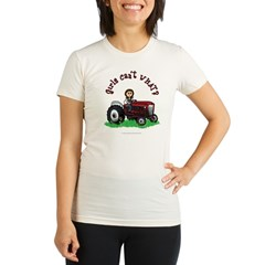 Light Red Farmer Organic Women's Fitted T-Shirt