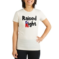 Raised Right 1 Organic Women's Fitted T-Shirt