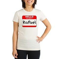 Hello my name is Rafael Organic Women's Fitted T-Shirt