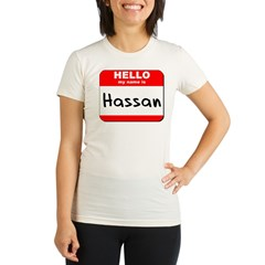 Hello my name is Hassan Organic Women's Fitted T-Shirt