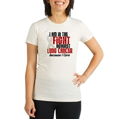 In The Fight 1 LC (Because I Care) Organic Women's Fitted T-Shirt