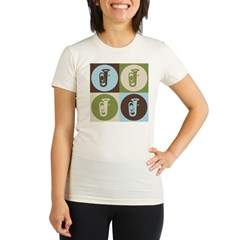 Tuba Pop Art Organic Women's Fitted T-Shirt