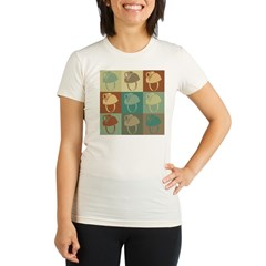 Caving Pop Art Organic Women's Fitted T-Shirt
