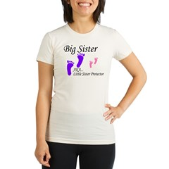 big sister little sister protector Organic Women's Fitted T-Shirt