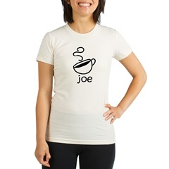 Java Joe Coffee Cartoon Organic Women's Fitted T-Shirt