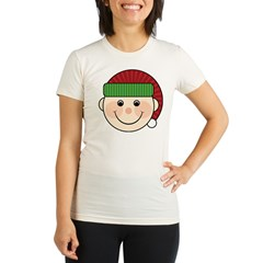 Funny Christmas Elf Maternity Tshirt Organic Women's Fitted T-Shirt