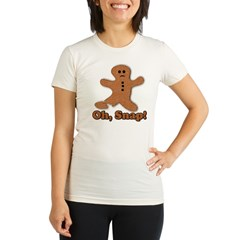 Gingerbread Snap Organic Women's Fitted T-Shirt