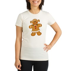 Gingerbread Woman Organic Women's Fitted T-Shirt