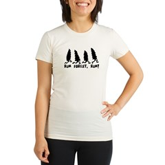 run forest Organic Women's Fitted T-Shirt