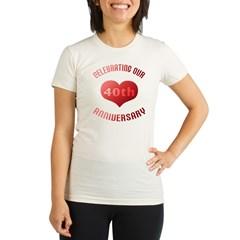 40th Anniversary Heart Gif Organic Women's Fitted T-Shirt