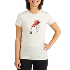 - Easter Flamingo Organic Women's Fitted T-Shirt