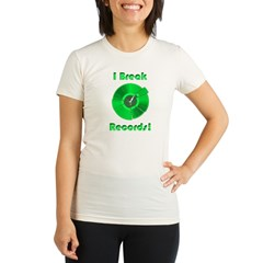 Record Breaker Organic Women's Fitted T-Shirt