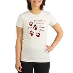 "Twilight Junkies ""Werewolf Tracks"" Organic Women's Fitted T-Shirt"