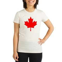 Maple Leaf Organic Women's Fitted T-Shirt