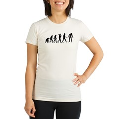 Funny Zombie Evolution Organic Women's Fitted T-Shirt
