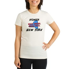 homer new york - been there, done that Organic Women's Fitted T-Shirt