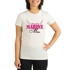 Marine Mom Wings Organic Women's Fitted T-Shirt