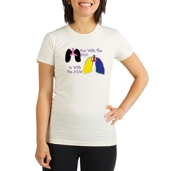 New Lungs.jpg Organic Women's Fitted T-Shirt
