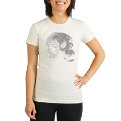Skulls Double Time Organic Women's Fitted T-Shirt