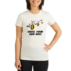 Funny spoof slogan boobies Organic Women's Fitted T-Shirt