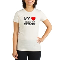 My Heart Belongs To A PREMIER Organic Women's Fitted T-Shirt