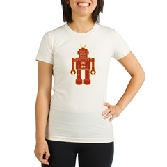 Robot Organic Women's Fitted T-Shirt