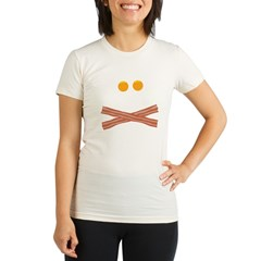 Eggs Bacon Skull Organic Women's Fitted T-Shirt