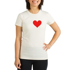 I Heart Volleyball: Organic Women's Fitted T-Shirt