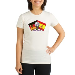 Germany vs. Spain 2010 Soccer Organic Women's Fitted T-Shirt