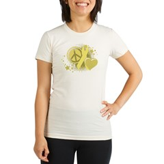 Spina Bifida Peace Love Cure Organic Women's Fitted T-Shirt