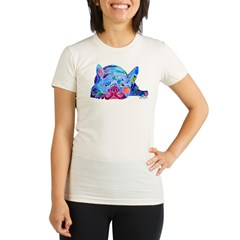 French Bulldog Frenchies Organic Women's Fitted T-Shirt