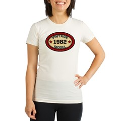Birthday Vintage Model Year Organic Women's Fitted T-Shirt