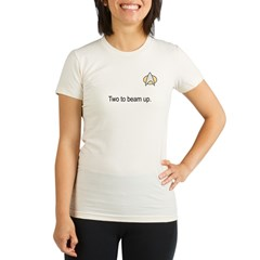 Two to beam up Organic Women's Fitted T-Shirt