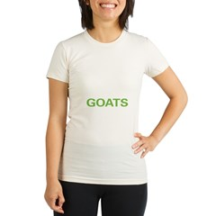 Live Love Goats Organic Women's Fitted T-Shirt