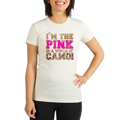 pink Organic Women's Fitted T-Shirt