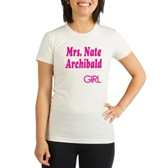 Mrs. Nate Archibald Gossip Girl Organic Women's Fitted T-Shirt