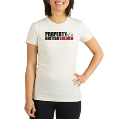 Property of a British Soldier - Organic Women's Fitted T-Shirt