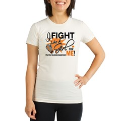 Fight Like A Girl For My MS Organic Women's Fitted T-Shirt