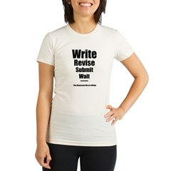 Write Revise Submit Wait Organic Women's Fitted T-Shirt