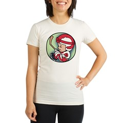 Hockey Player Inside Organic Women's Fitted T-Shirt