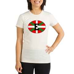 E Flag Organic Women's Fitted T-Shirt