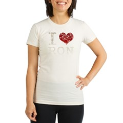 I heart Ron Paul Organic Women's Fitted T-Shirt