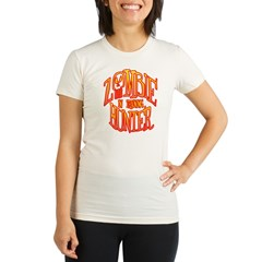 Zombie Hunter In Training Organic Women's Fitted T-Shirt