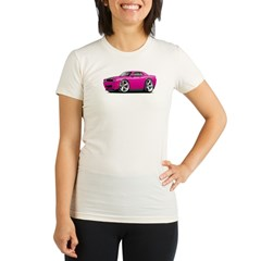 Challenger SRT8 Fuschia Car Organic Women's Fitted T-Shirt